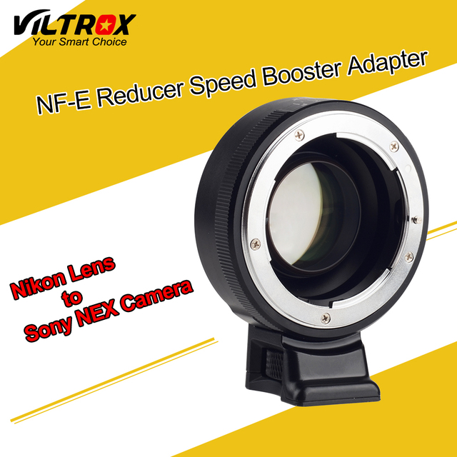 Viltrox Focal Reducer Speed Booster Lens Adapter Turbo w/ Aperture Ring for Nikon F Lens to Sony A7 A7R A7S A6300 A6000 NEX-7