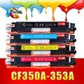 Совместимость 130A CF350A 350a 351A 352A 353A Цветной Тонер-Картридж для HP Color LaserJet Pro MFP M176n M177fw M177 M176 принтер