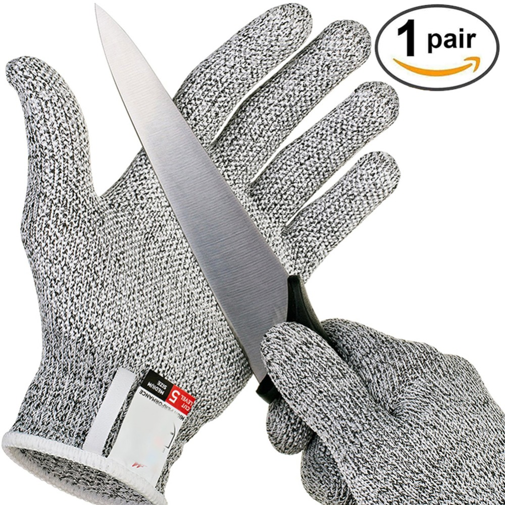 Anti-cut Gloves  Pair Safety Cut Proof Protective Stab Resistant Stainless Steel Wire Metal Mesh Butcher Cut-Resistant Gloves