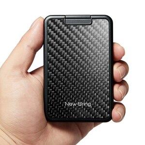 Image 4 - שקופיות כרטיס מחזיק Slim ארנק כרטיס מקרה עם פחמן סיבי RFID חסימת גברים נשים זכר נקבה