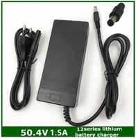 50.4 V 1.5A 12 S Thông Minh Lithium Battery Charger cho 43.2 V 43.8 V 44.4 V 48 V Lypomer Li-Ion pin Gói