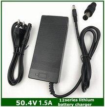 50.4V 1.5A 12S אינטליגנטי ליתיום סוללה מטען עבור 43.2V 43.8V 44.4V 48V Lypomer ליתיום סוללה חבילה
