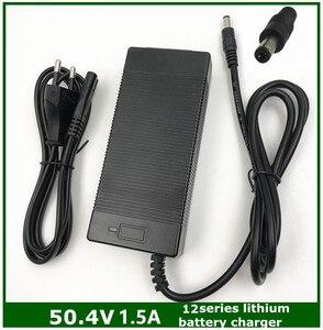 Image 1 - 50.4V 1.5A 12S Intelligent Lithium Battery Charger for 43.2V 43.8V 44.4V 48V Lypomer Li ion Battery Pack