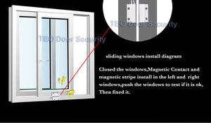 Image 3 - Czujnik na okno Alarm Mini Home drzwi magnetyczne okno wejście Alarm ostrzegawczy przełącznik drzwi kontakt magnes NC drzwi antywłamaniowe