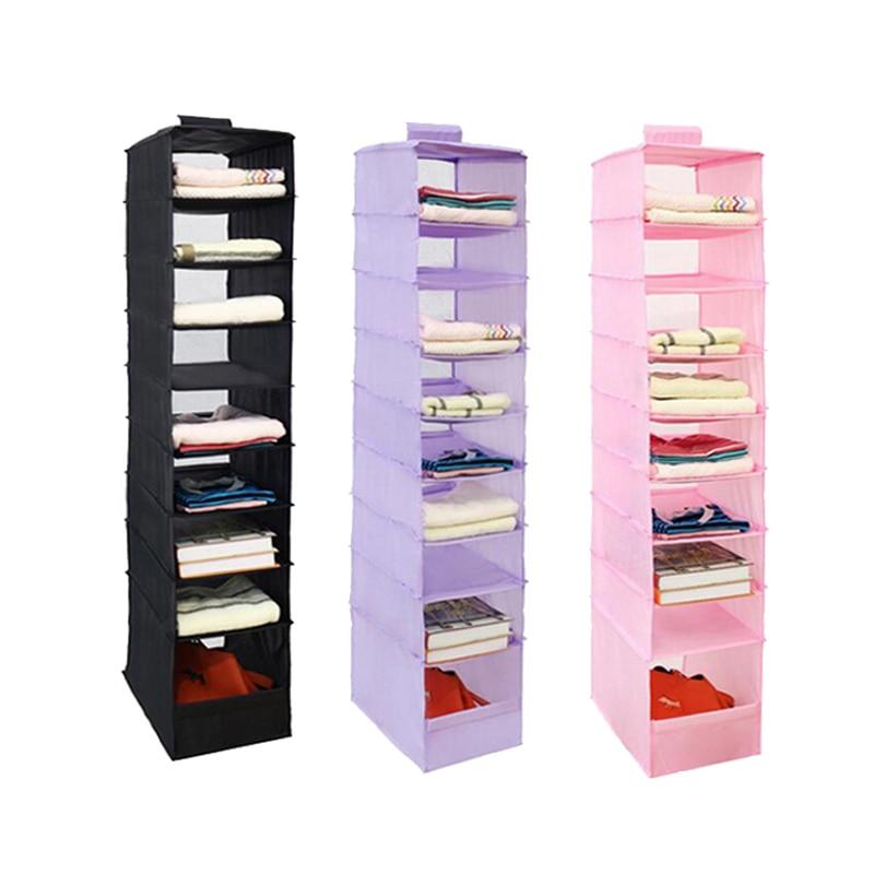 9 Coats Oxford Hanging Box Organizer Underwear Sorting Clothing Shoe Storage Box Door Wall Closet Organizer