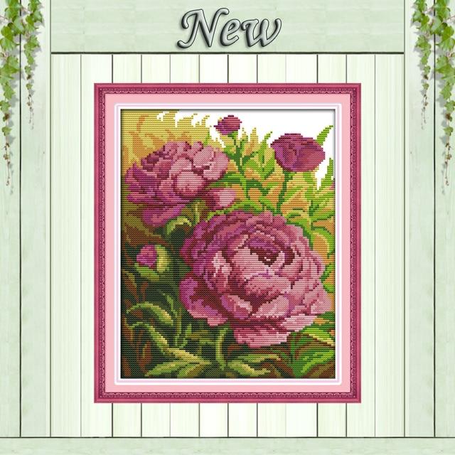 Картина маслом цветы пиона живопись Счетный напечатаны на холсте DMC 14CT 11CT Китайский вышивки крестом Рукоделие Наборы для ухода за кожей Вышивка комплекты