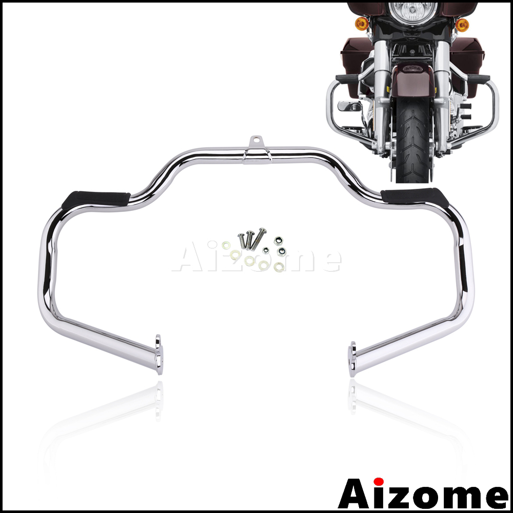 Motorcycle Chrome Engine Guard Crash Bar For Harley Road King FLHR Classic FLHRC Electra Glide Classic