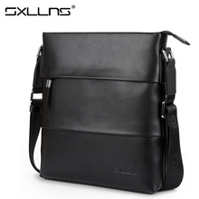 Sxllns 2017 New Men Shoulder Bags Brand Briefcases Business Casual Leather Crossbody Bag Fashion Men's Messenger Bag Free Ship