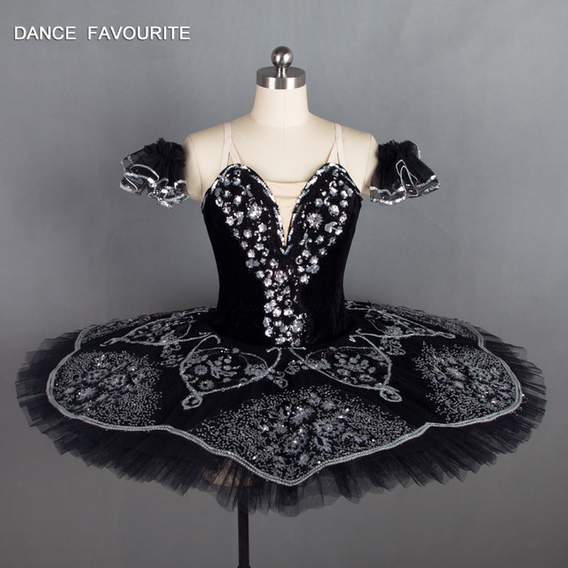 87097829 US $279.0  B18031 Stuning czarny kolor profesjonalny balet Tutu dorosły  klasyczny balet kostiumy sceniczne dziewczyny baleriny kostium taneczny w  ...