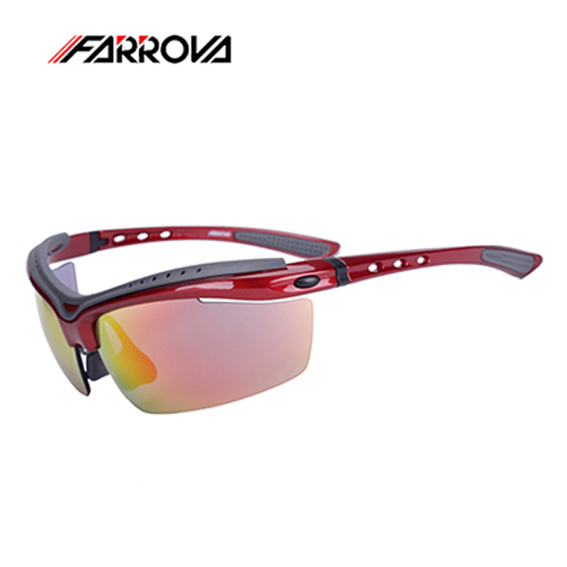 FARROVA Outdoor Sports Sunglasses Polarized Cycling Eyewear Group of 5 Lense Mtb Bicycle Glasses Cycling Eyewear for Men Women obaolay outdoor cycling sunglasses polarized bike glasses 5 lenses mountain bicycle uv400 goggles mtb sports eyewear for unisex