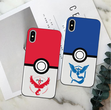 Game Pokemons Go Pokeball Team Valor Mystic Instinct Soft TPU Case Cover For iphone X 5 11 11PRO 6 6S 7 Plus XR XSMAX