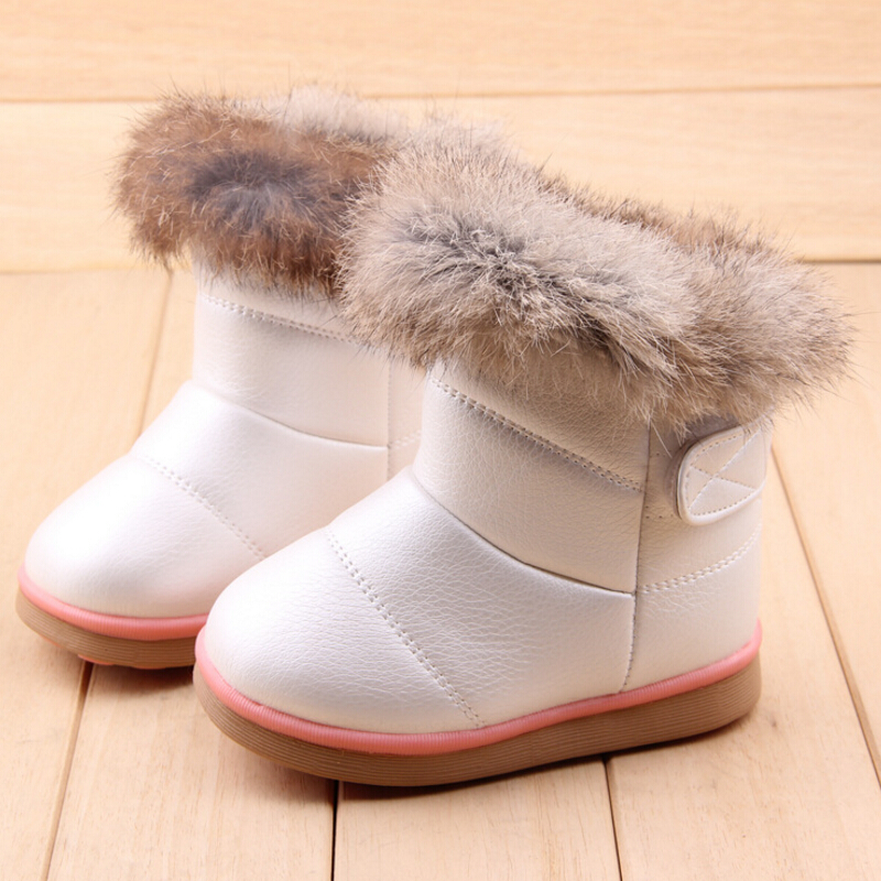 Winter new style baby shoes for girls snow boots kids sneakers soft Children rubber boots rain