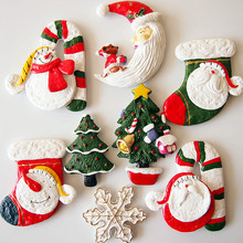 (10 pieces a lot)Cute retro Christmas fridge magnet creative perspective