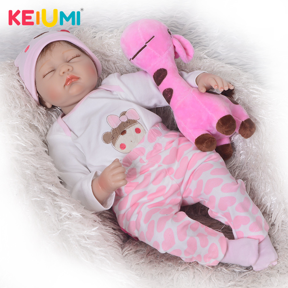 Reallife 55 cm Reborn Soft Silicone Newborn Doll 22 lovely Closed Eyes  Reborn Baby Doll Cloth Body Kids Birthday GiftsReallife 55 cm Reborn Soft Silicone Newborn Doll 22 lovely Closed Eyes  Reborn Baby Doll Cloth Body Kids Birthday Gifts