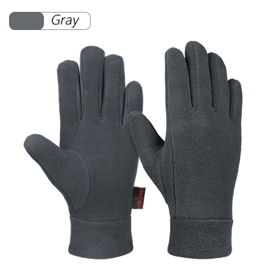 OZERO Windproof Warm Gloves Black//Gray Winter Glove Liners with Full Hands Thermal Polar Fleece Touch Screen Fingers , Small Hands Warmer in Cold Weather for Men and Women Black