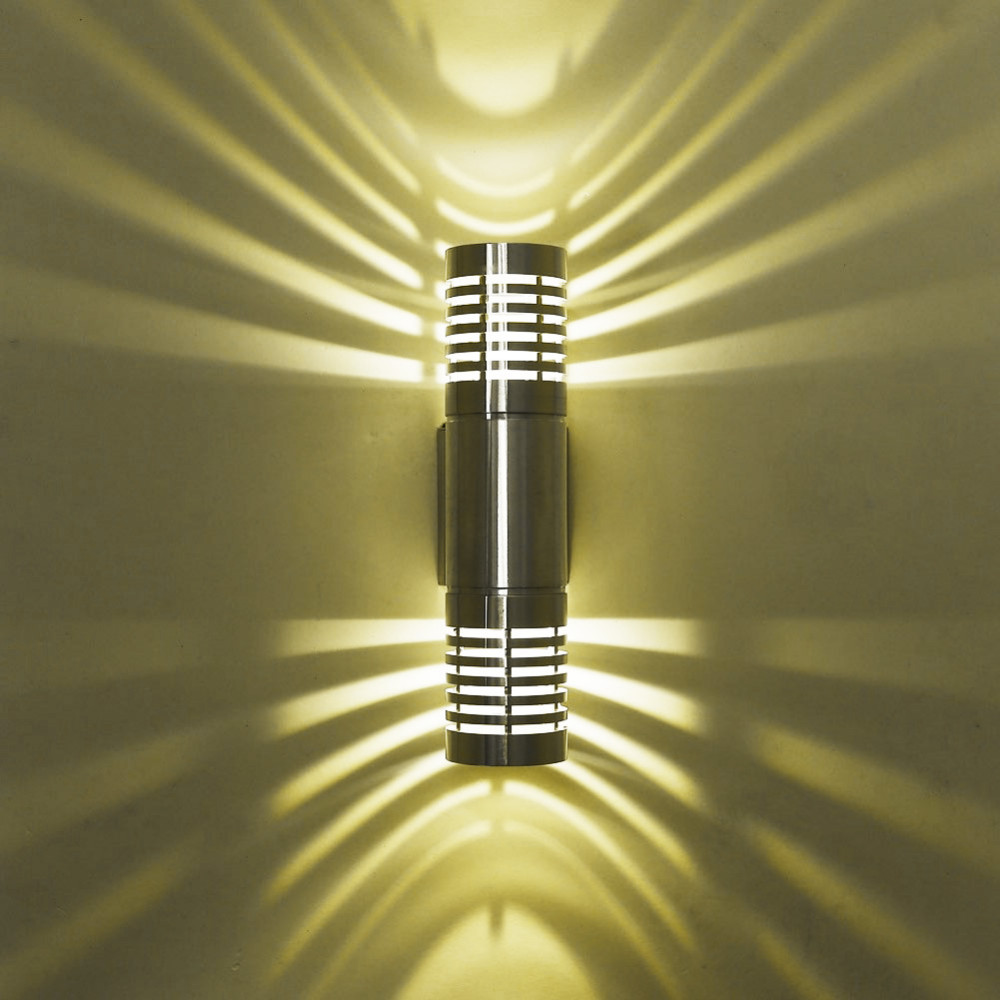 2w 6w day white warm white led wall light tracking lighting silver hollow out lampshades bathroom track lighting