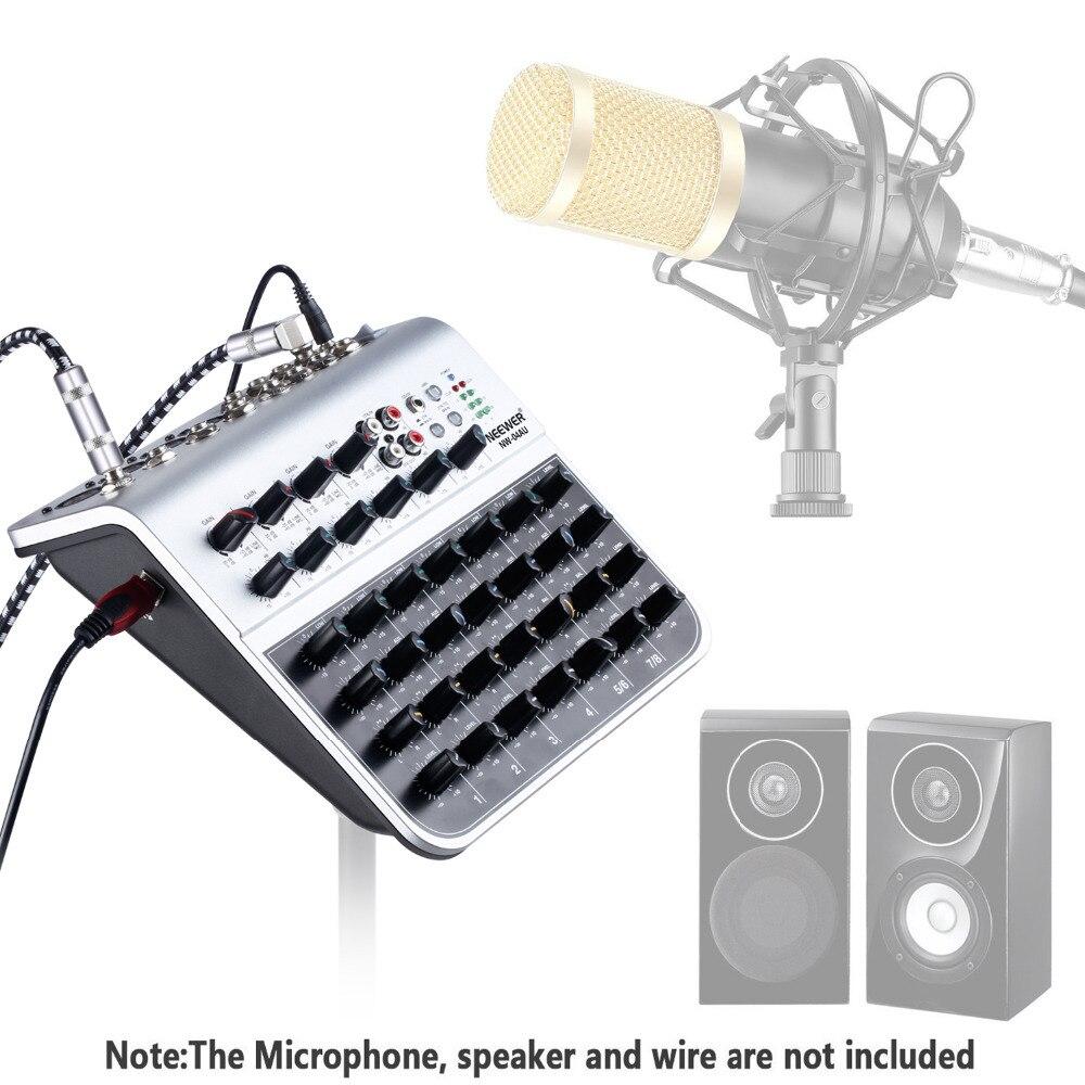 Praktisch Leory Professionelle Karaoke Audio Sound Mixer 8 Kanal Mikrofon Mischverstärker Konsole Mit Usb Eingebauten 48 V Phantomspeisung Unterhaltungselektronik