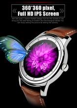 Dm365บลูทูธ4.0 smart watch 360*360 ipsมุมมองแบบเต็มและสายหนังpedometerนอนmonitorสนับสนุนภาษาฮิบรูตุรกี