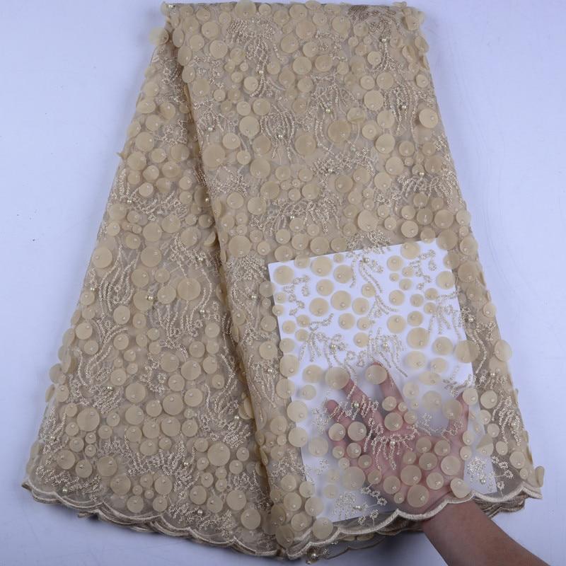 Cekiny koronki tkaniny wysokiej jakości haftowane projekt nigeryjczyk koronki na wesele sukienka na imprezę francuski koronki tkaniny 5 metrów A1528 w Koronka od Dom i ogród na  Grupa 2