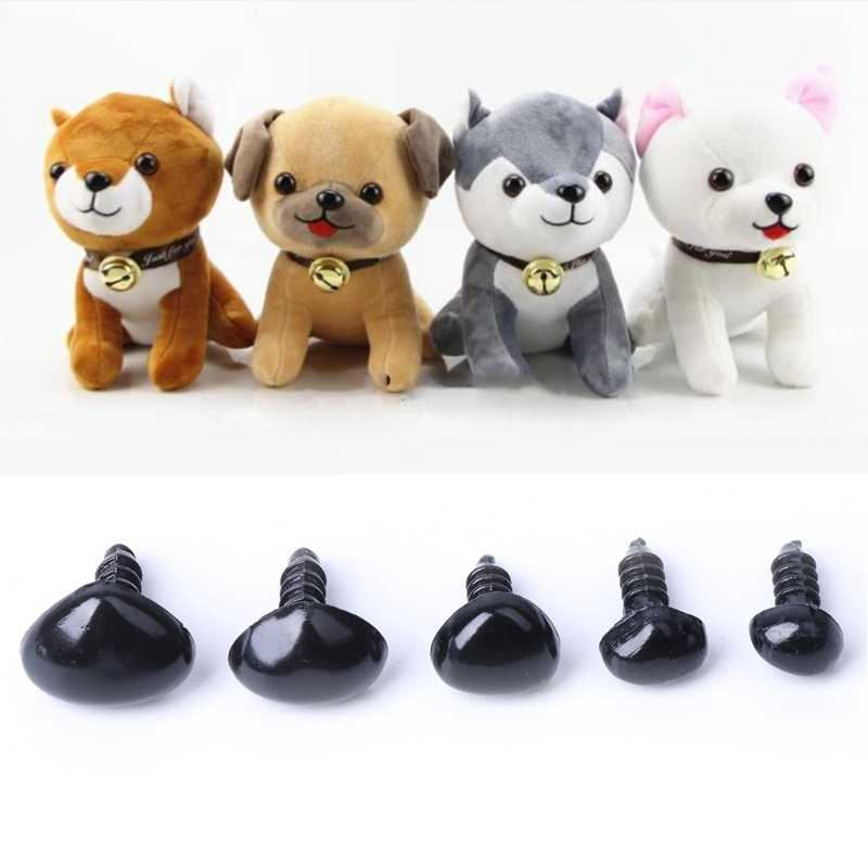 100Pcs Plastic Safety Triangle Nose Doll Plush Toys Stuffed Animals Making DIY