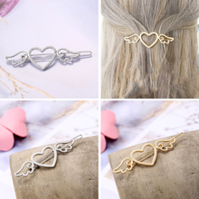Fashion Hairpins Girl Metal Angle Wings Love Heart Cute Beauty Barrette Clips headwear  Hair Accessories Tools