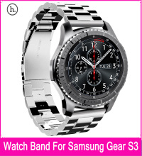 НОСО Замена Нержавеющей Стали Группа Браслет Ремешок с Тремя Бисером Пряжки Дизайн Для Samsung Gear S3 Классический/Frontier