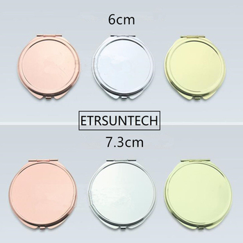 Round Gold/Rose gold Compact Makeup Mirror Pretty Compact Mirror Pretty Ladies Handbag Mirrors F1280