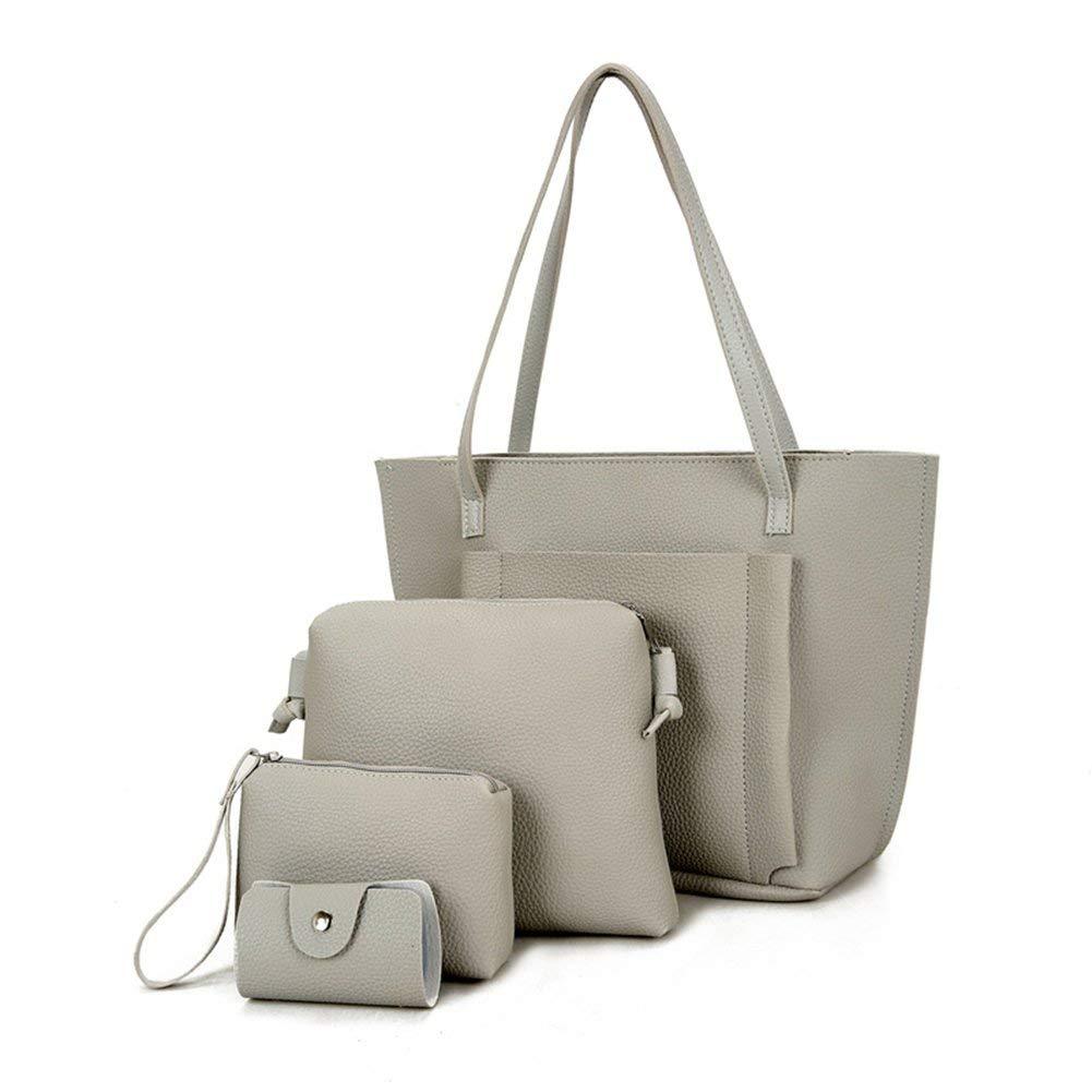 Neue mode hotsale hohe qualität dame Frauen Mode PU Leder Handtasche Schulter Tasche Geldbörse Karte Halter 4 stücke Set Tote taschen