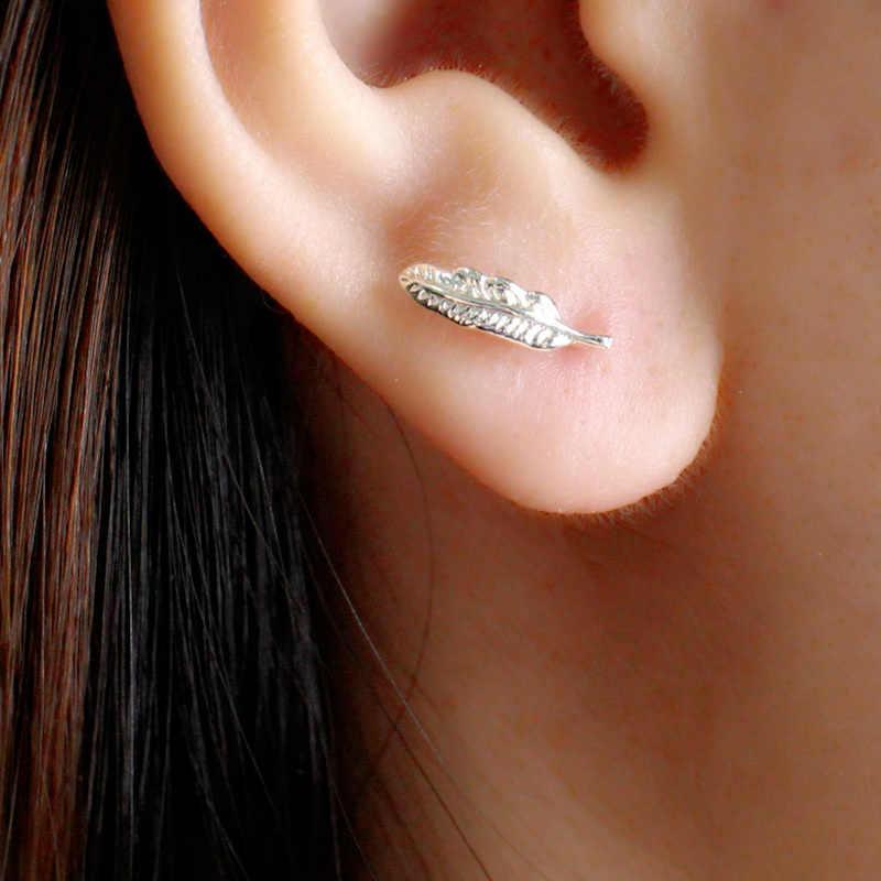 100% 925เงินสเตอร์ลิงป้องกันโรคภูมิแพ้ขนB Rincosต่างหูสตั๊ดสำหรับผู้หญิงแต่งงานต่างหูอุปกรณ์เครื่องประดับ