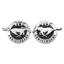 Эмблема значка автомобиля Стикеры прочный 40th Юбилей Mustang скаку логотип для Ford Fiesta F150 Edge Побег Тьерра стайлинга автомобилей