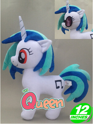 My Cute pp Cotton Unicorn Horse DJ Pon 3 Vinyl Scratch Plush Kids Toys Doll Birthday