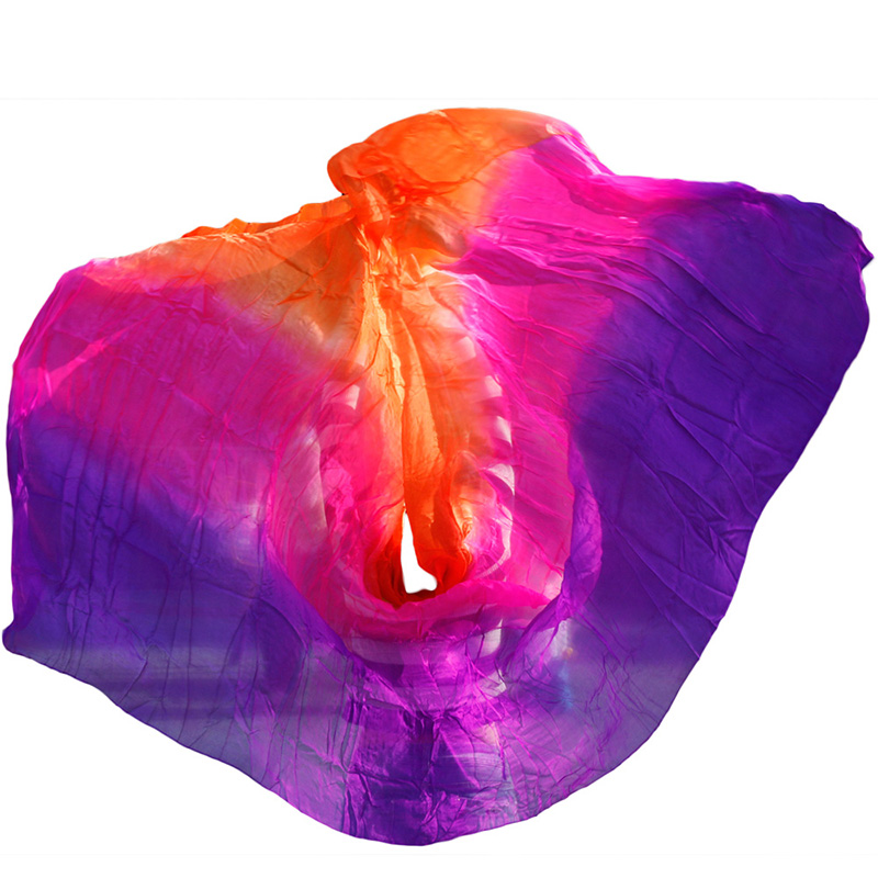 100% Silk Belly Dance Veils High Quality Dance Veils Women's Sexy Dancing 100% Silk  Wholesale Size And Color Can Be Customized