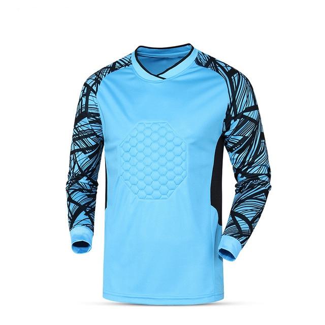 898661c7df6 2017 Mens Soccer Goalkeeper Training Jersey Sponge Protector Suit Football  Long Sleeve Goal Keeper Uniforms Doorkeepers Sets XXL-in Soccer Jerseys  from ...