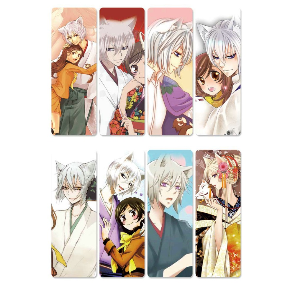8pcs Kamisama Hajimemashita Anime Bookmarks Waterproof Transparent PVC Plastic Bookmark Beautiful Book Marks Gift