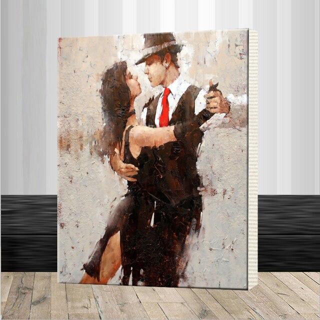 Us 360 Montage Rahmen Leidenschaftlich Tango Diy Malen Nach Zahlen Moderne Abstrakte Handgemalte Leinwand Gemälde Für Kunst Bild In Montage