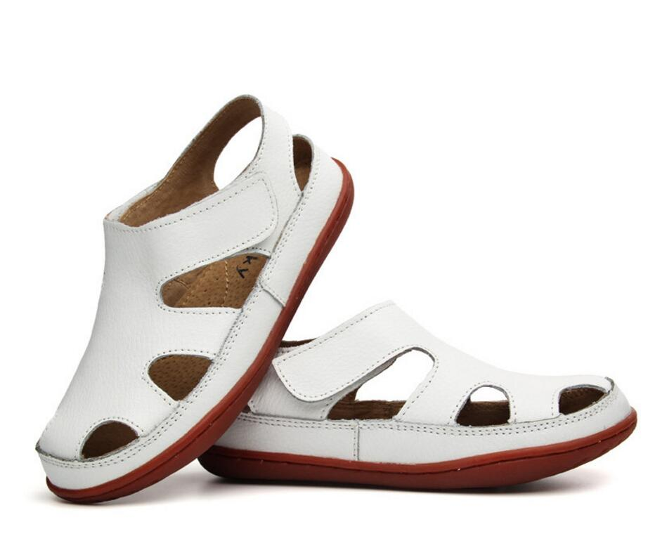 Children's leather sandals-22