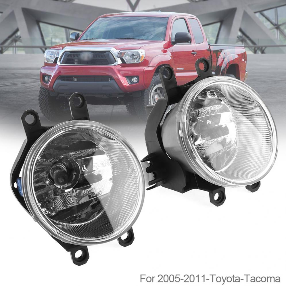 1 Pair Universal Round Housing Clear Lens Car Fog Lamps Driver & Passenger Side Auto Fog light for Toyota Tacoma 2005-2011 for 04 10 nissan titan armada fog lights clear light lamps passenger driver usa domestic free shipping hot selling