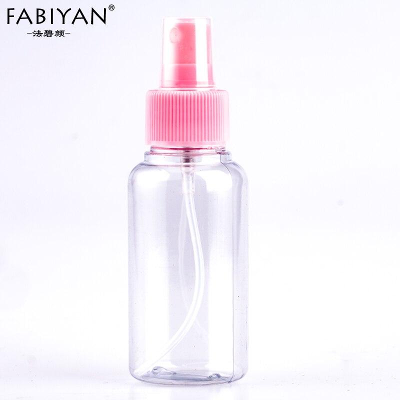 50ML Mini Plastic Transparent Small Empty Spray Bottle Water Make Up Skin Care Nail Art Manicure