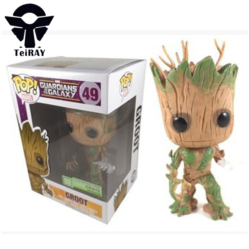 Marvel Guardians Of the Galaxy Luminous Groot Figma Funko Pop Limited Edition Anime 12cm Pvc action figures hot toys Brinqudos new funko pop guardians of the galaxy tree people groot