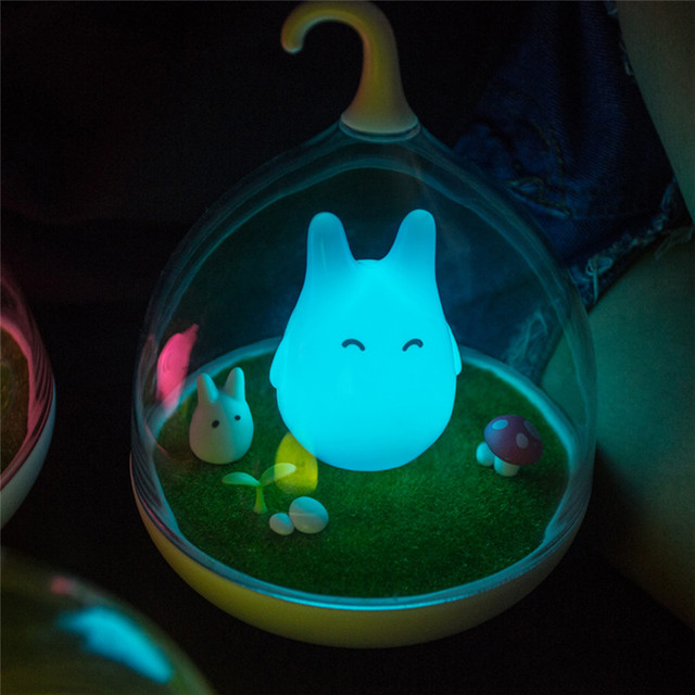 Newest Design Night Lamp Totoro Cute Portable Touch Sensor USB LED Lights Lamps Lamp For Baby Bedroom Sleep Lighting Art Decor