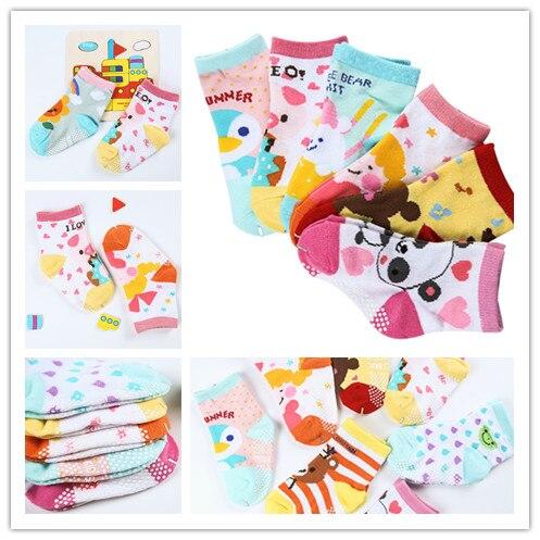 6pairs/lot Kids Socks Baby New Born Boy Girl CasualInfantil Baby Slippers,Anti Slip Socks Floor Children SockscTWS0017