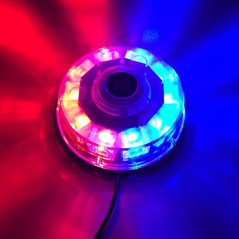 LED Car Truck Strobe Warning Light Police Ambulance Flashing Emergency Beacon Lights Lamp With Magnetic Mounted DC12V