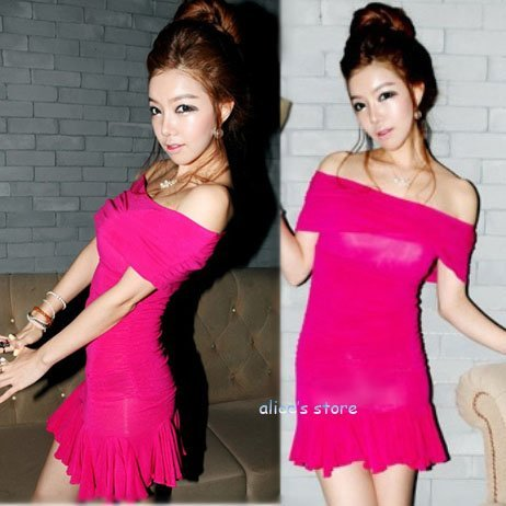 2012 fashion sexy collar strapless fishtail skirt dress
