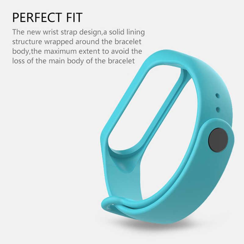 Pulseira para xiaomi mi Banda 3 Esporte relógio de Pulseira acessórios pulseira de Silicone alça de pulso Para xiaomi mi banda 3 mi banda 3 cinta