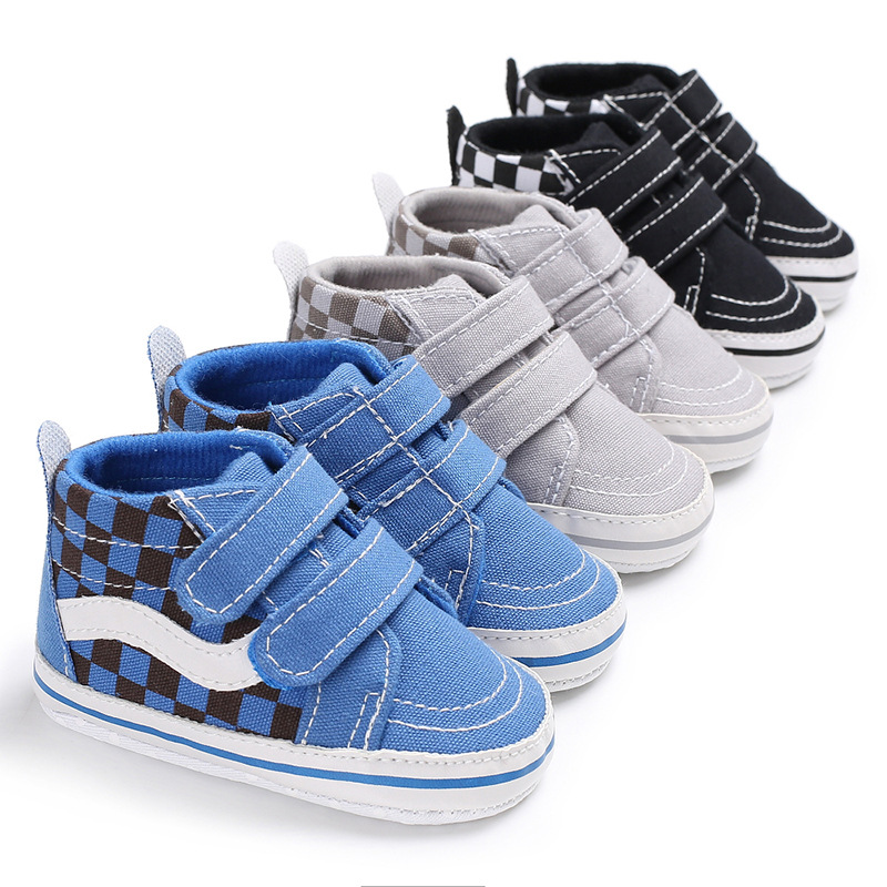 Newbo Baby Boys Shoes Higrnh Top Sneakers Mix Colors First Walker Infant Toddler Soft Sole No-slip Prewalkers