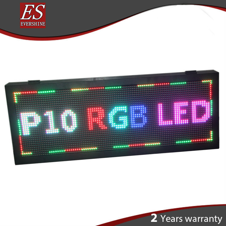 Hot! Best price Front Open Waterproof Outdoor P10 RGB Video LED Screen Sign with Low Consumption