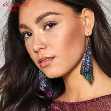 bls-miracle New fashion jewelry accessorie Bohemia alloy tassel Small sheet Drop earring best gift for lover's wholesale E418