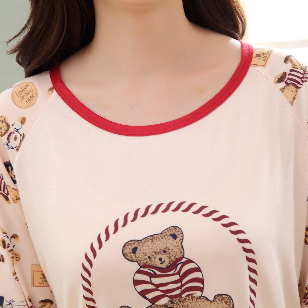 1dd2868bdc Pijama de Dibujos Animados Oso Pijamas Para Mujer de Manga Larga Pijamas  Pijamas para Mujer femme Niñas Ropa de Dormir Ropa de Dormir de las Mujeres  PJ6 en ...