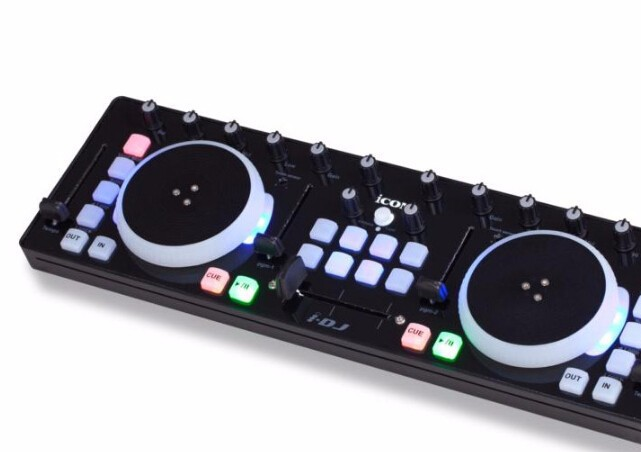 original icon i dj idj mini dj controller equipment usb professional audio dj mixer in sound. Black Bedroom Furniture Sets. Home Design Ideas