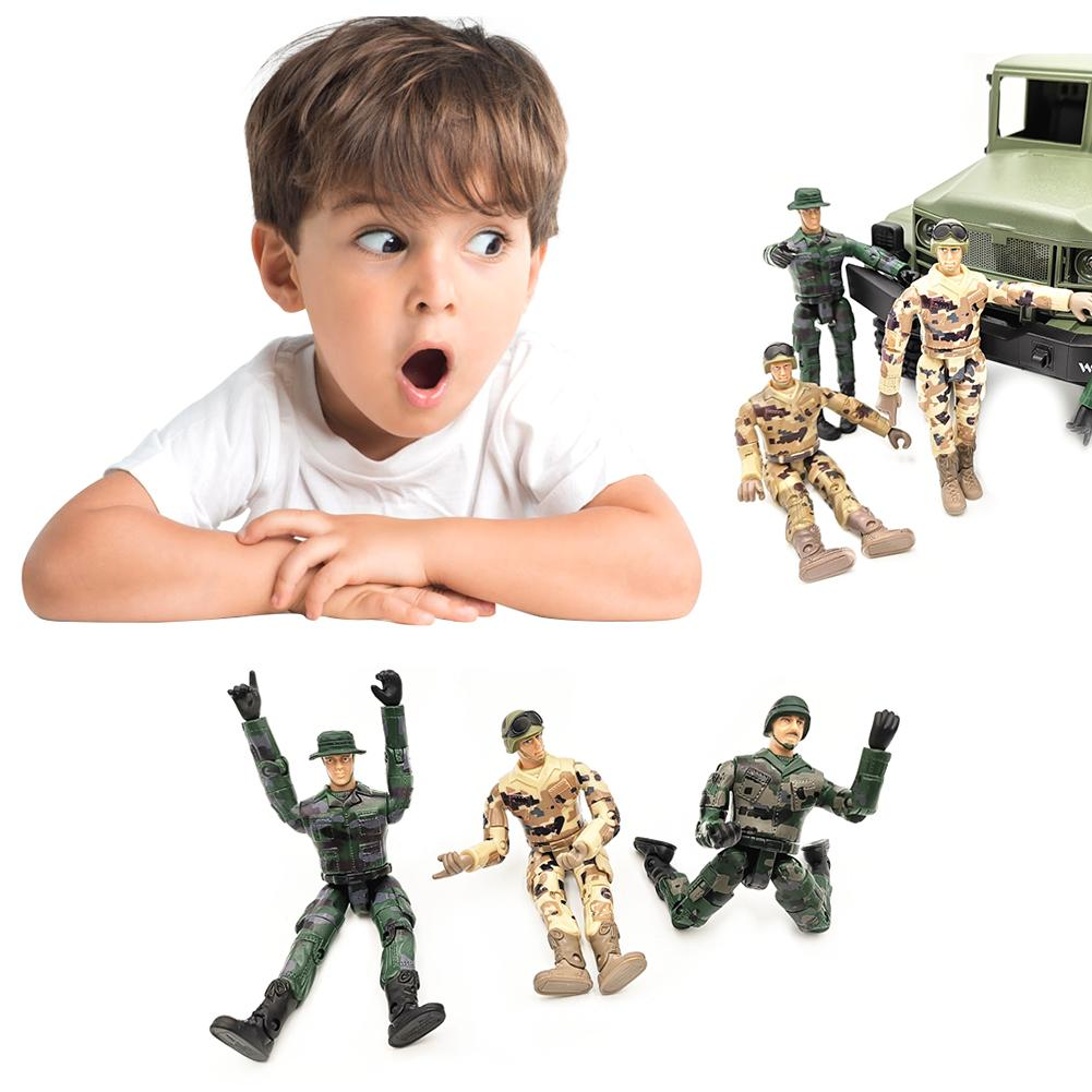 4PCS Special Force Action Figures Soldier Men 10CM  Multi-joint Movable Figure Gifts For Children